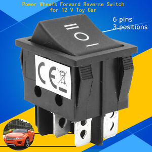 Power Wheel 6 Pin 3 Positions Forward Reverse Switch for 12V Toys Car T105/5