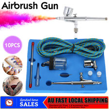 Airbrush Kit Spray Gun Dual Action Air Brush Compressor Paint Art Tattoo Set AU