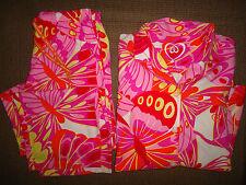 Victoria's Secret 2PC pajama set flannel multi color bright butterflies size L