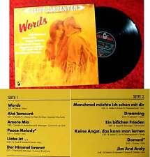 LP Cliff Carpenter: Words (Hansa 205 232-241) D 1982