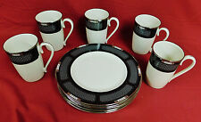 Lenox Hancock Platinum Accent Plates & Mugs - 10 Pieces