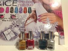 Lot of 2 (2) Packs Pure Ice & Crackle ~ comes with nail files & are sealed