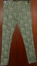 TOMMY HILFIGER Ladies FLORAL Thin Pure Cotton TROUSERS Size UK 16 Waist 34 inch