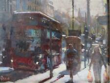 BILL DEAN ROI (1932-) British Impressionist OIL PAINTING of Whitehall LONDON