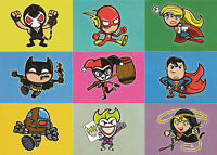 "DC Comics Epic Battles ~ ""BAM"" STICKER PARALLEL Insert Card Set (T01-09)"