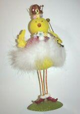 "Pier 1 Chicken Princess Figurine Easter 11"" Glitter New"