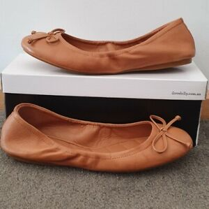 New I Love Billy Arettie Tan Leather Womens Shoes Casual Shoes Flats