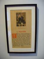 Robert Louis Stevenson Prayer - Rare Letterpress Broadside with Gravure Portrait