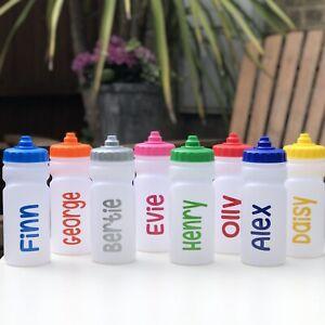 NAMED SCHOOL WATER / DRINK BOTTLE -NO LEAKS/SPILLS - DEMAND LID   - 500ML  DA501