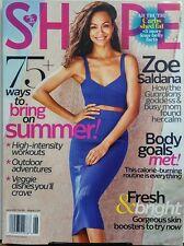Shape June 2017 Zoe Saldana 75 Ways to Bring in Summer Shed Fat FREE SHIPPING sb