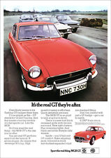 MG MGBGT 1970 RETRO POSTER A3 PRINT FROM CLASSIC ADVERT