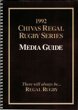 1992 Australia Chivas Regal Rugby Series Official Media Guide Rugby Booklet