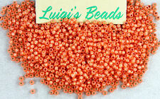 11/0 Round Toho Japan Glass Seed Beads #2112- Silver-Lined Milky Grapefruit 10g