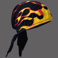 BIKER TRIBAL FLAMES HEAD WRAP  CAP
