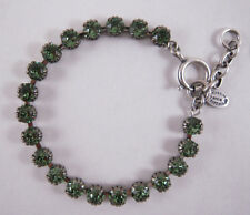 Catherine Popesco Silver Small Marine Swarovski Crystals Bracelet