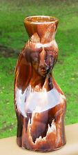 Lovely Vintage Pottery Lady's Head & Bust Vase  *Made in Israel *Rich Glaze