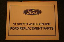 Nos Ford Mustang Autolite Service part paper floor Mats. 1966-1971 Ford products