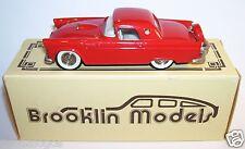 BROOKLIN MODELS FORD THUNDERBIRD HARDTOP 1956 ROUGE REF 13 IN ORIGINAL BOX 1/43