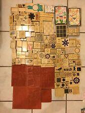 Huge STAMPIN UP! + Other Brands Variety Wood Mount Rubber Stamp Lot 180+