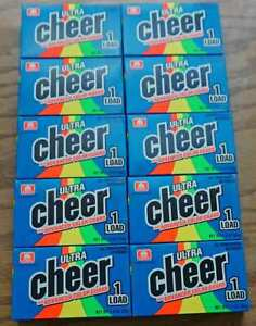 Ultra Cheer Single Load Laundry Detergent Travel Coin Op 10 Pack
