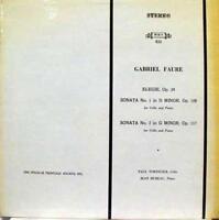 TORTELIER HUBEAU gabriel faure elegie sonta 1 & 2 LP Mint- MHS 833 Vinyl  Record
