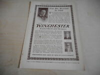 1916 MAGAZINE AD #A4-116 - WINCHESTER SHELLS AND SHOTGUNS