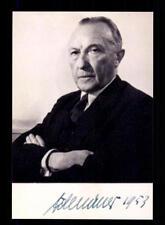 Konrad Adenauer ++Autogramm++ ++ 1 Bundeskanzler ++CH 334