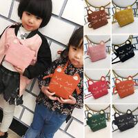 New Children Kids Girls Cats Crossbody Bag PU Wallet Mini Bag Messenger Bags