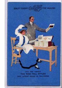 Advertising Postcard - M & H Fine Woolens Clothing Poughkeepsie New York
