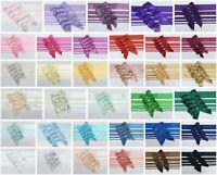 Satin Ribbon & Self Adhesive Bow Multipack - 5 x 1m Mixed Width + 5 x 5cm Bows