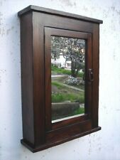 Primitive Mission Rustic Medicine Cabinet / Solid Wood Handmade / Dark Finish