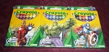 Crayola Marvel Avengers Assemble set of 3 8-packs crayons Iron Man, Hulk, Capt.