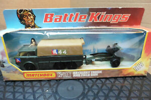 VINTAGE 1976 MATCHBOX BATTLE KINGS ARTILLERY TRUCK & FIELD GUN K-116 MINT BOXED
