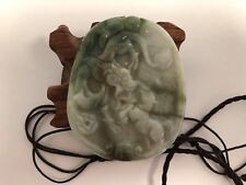 Natural Pure Jade Pendant  hand-carved Great Dragon and Horse So Beautiful
