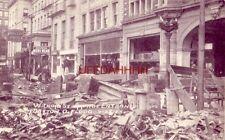 W. THIRD STREET ARCADE ENTRANCE near Phillips Hotel after DAYTON, OH. FLOOD 1913