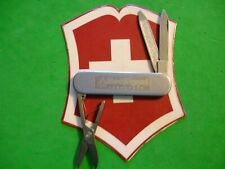 NTSA RARE SWISS ARMY VICTORINOX 58mm STAINLESS STEEL ENSIGN W/GUILLOCHE DESIGN