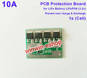 10A 3.2V LiFe Lithium LiFePO4 Cell Batterie  BMS PCB Protection board Circuit