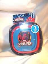 SPIDERMAN  Food Storage CONTAINERS Stackable (6 pcs)  (#530)