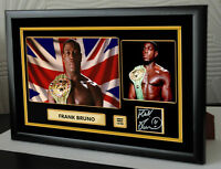Frank Bruno Canvas Signed Tribute