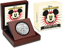 2014 $2 Niue Dollar 1 oz Silver Proof Mickey Mouse Steamboat Willie w/ Box & COA