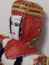 "Vintage Cloth Anatolian Turkish Doll - Traditional dress- 13"" tall"