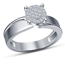 Sterling Silver 14K White Gold Over 1.20Ct Round Diamond Engagement Wedding Ring