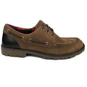 Sperry Top-Sider Lug Brown/Red Waterproof Boat Shoes Men Size 10.5 & 11 STS20852