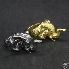 Elephant Ring in 316L Stainless Steel Golden and Silver Color - Size 8-13