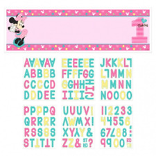 Disney Minnie Mouse Fun to be One 1st Birthday Personalised Giant Banner Kit