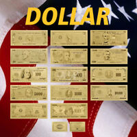 WR 1-1 Billion $ US Dollar Gold Banknote Set 14 Stück 24 Karat Gold Geldschein