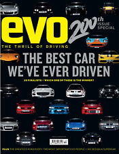 EVO car magazine 200th edition - top 20 car test