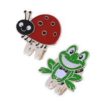 2 Pack Frog Ladybird Golf Ball Marker with Magnetic Hat Clip Cap Visor Clips
