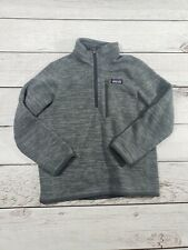 PATAGONIA Grey Zippered pullover Youth Size XS 5-6 Fleece O8