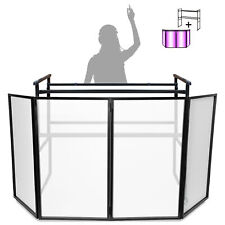 4ft Deck Stand w/ Vonyx Foldable Disco DJ Lighting Screen 4 Panel Facade Booth